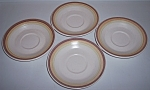 FRANCISCAN POTTERY SIERRA SAND SET/4 SAUCERS!