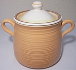 Click to view larger image of Franciscan Pottery Sierra Sand Beanpot w/Lid (Image1)