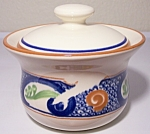 FRANCISCAN POTTERY CALYPSO SUGAR BOWL W/LID!