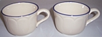 FRANCISCAN POTTERY INTRIGUE PAIR CUPS!