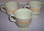 FRANCISCAN POTTERY GINGERSNAP SET/3 EXPERIMENTAL CUPS!