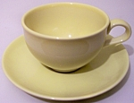 RUSSEL WRIGHT POTTERY IROQUOIS LEMON CUP/SAUCER SET!