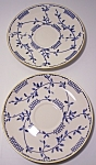 FRANCISCAN POTTERY FINE CHINA ELSINORE PAIR SAUCERS!