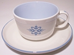 FRANCISCAN POTTERY FAMILY CHINA MEDALLION CUP/SAUCER!