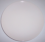 FRANCISCAN POTTERY FLAIR WHITE DINNER PLATE!