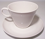 FRANCISCAN POTTERY WHITESTONE CLOUD NINE CUP/SAUCER SET