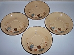 FRANCISCAN POTTERY BOUQUET SET/4 SAUCERS!