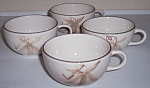WINFIELD CHINA POTTERY PASSION FLOWER SET/4 CUPS!