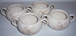 WINFIELD CHINA POTTERY PASSION FLOWER SET/4 SUGAR BOWLS