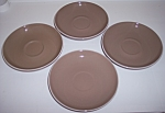 WINFIELD CHINA POTTERY DESERT DAWN SET/4 SAUCERS!