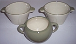 WINFIELD CHINA POTTERY EARLY GREEN/WHITE 3 SUGAR BOWLS!