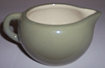 WINFIELD CHINA POTTERY EARLY GREEN/WHITE CREAMER!