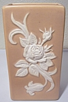 """Click to view larger image of WELLER POTTERY PINK/WHITE CAMEO 8.5"""" VASE! (Image1)"""