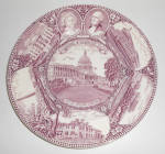 Click to view larger image of Adams China Washington D.C. Martha & George Plate!      (Image1)