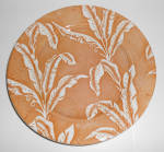 Click to view larger image of Tepco Restaurant China Brown Palm Large Dinner Plate! (Image1)