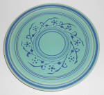 Pacific Pottery Hostess Ware Decorated Green Plate !