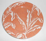 Click to view larger image of Wallace China Brown Shadowleaf Banana Dinner Plate!  (Image1)