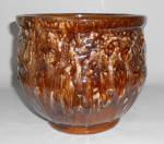 Nelson McCoy Pottery Brown Onyx Morning Glory Jard