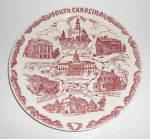 Click here to enlarge image and see more about item 23573: Vernon Kilns Pottery South Carolina State Plate! MINT