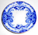 Burgess & Leigh Flow Blue China Burleigh Demi Saucer!