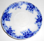 W.H. Grindley Flow Blue China Marguerite Saucer!