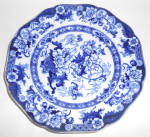 Cauldon Flow Blue China Bentick Dinner Plate!