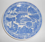 Vernon Kilns Pottery Blue/White Honolulu Plate! Pre-War
