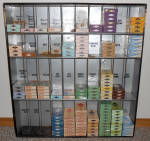 Vintage Diamond Tints & Dyes Metal Litho Store Cabinet