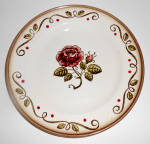 Metlox Pottery Poppy Trail Provincial Rose Bread Plate!