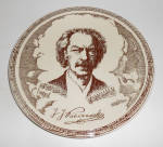 Click here to enlarge image and see more about item 24662: Vernon Kilns Pottery Ignace Jan Paderewski Composer Plt