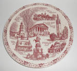 Vernon Kilns Pottery Historical Virginia State Plate!