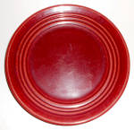 Bauer Pottery Ring Ware Burgundy 9-3/8in Plate!