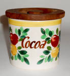 Bauer Pottery Fruit Decorated Cocoa Jar W/Lid! MINT