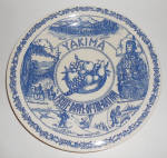 Vernon Kilns Pottery Yakima Washington Tourist Plate!