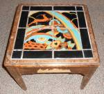 Click here to enlarge image and see more about item 26426: Circa 1930's California Tile Top Table Rainbow