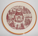 Click to view larger image of Vernon Kilns Pottery Alaska Tourist Chop Plate Mint (Image1)