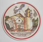 Click here to enlarge image and see more about item 31922: Vernon Kilns Pottery Mission San Buenaventura Plate