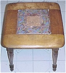 Ozark Roadside Pottery Tile Top Table