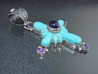 David Troutman Turquoise Amethyst Sterling Silver Penda