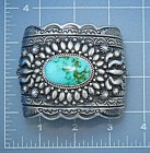 Navajo Pilot Mountain Turquoise Sterling Silver Bracele