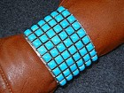 Navajo Sterling Silver Sleeping Beauty Turquoise Cuff