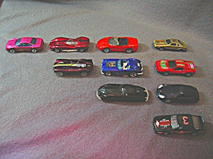 Lot #8 - 10 Diecast, Hot Wheels, style toy vehicles (Image1)