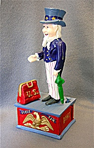 Vintage replica Uncle Sam Mechanical Money Bank (Image1)
