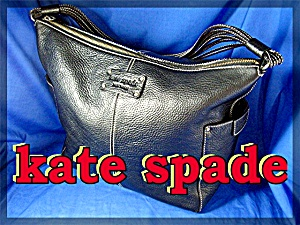 KATE SPADE  Black Textured Leather Tote (Image1)