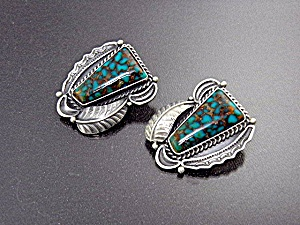 Native American  KIRK SMITH Sterling Silver Turquoise  (Image1)