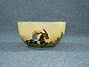 Pottery Mexican Tlaquepaque Hand Decorated cereal bowl (Image1)
