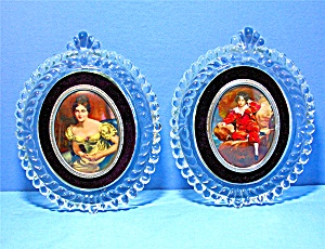 Glass PICTURE frames with Velvet Mount pictures  X 2 (Image1)