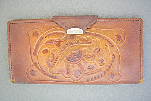 Wallet Tooled Leather Wallet Clifton's
