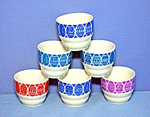 Egg Cups SET of 6 made in Finland Original Box (Image1)