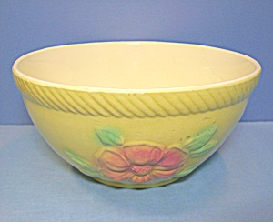 Hull Sun Glow Oven Proof Glazed Flowers Mixing Bowl
